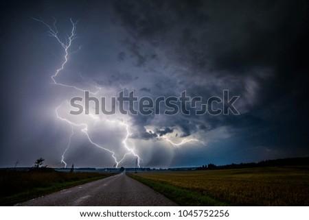 Stock Photo Lightning sky in nature