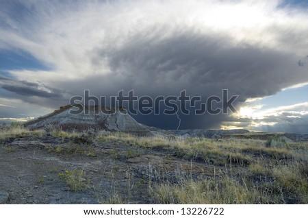 Lightning Storm in the Badlands: Dinosaur Provincial Park, Alberta, Canada