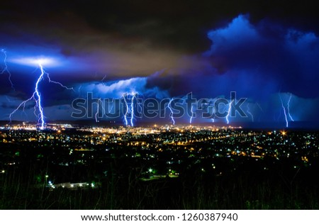 Lightning Storm over Newcastle, South Africa