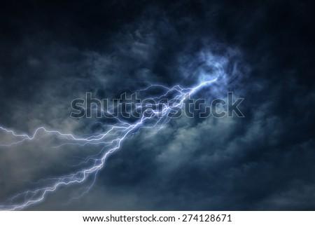 lightning strike during an electrical storm