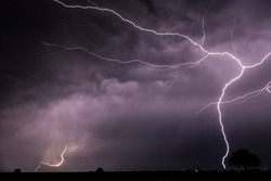 Lightning Strike hitting the ground