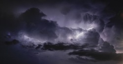lightning strikes during a storm
