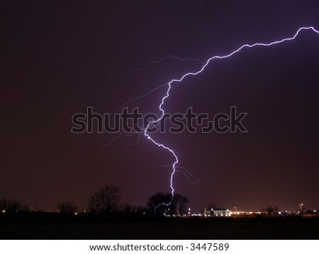 lightning, thunderstorm, weather, landscape, bolt