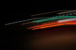 Lights and diagonal stripes, fast moving on a white background
