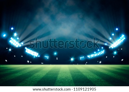 lights at night and stadium 3d render  - Shutterstock ID 1109121905