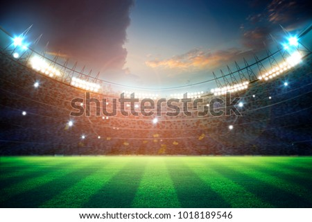 lights at night and stadium 3d rendering #1018189546