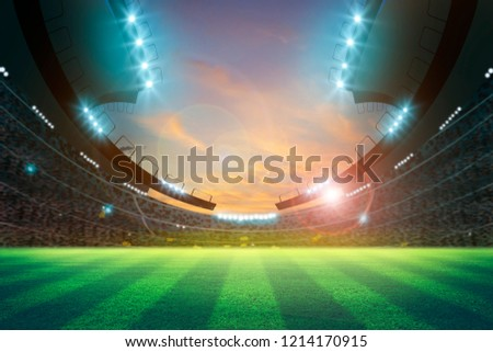 lights at night and stadium 3D rendering. #1214170915