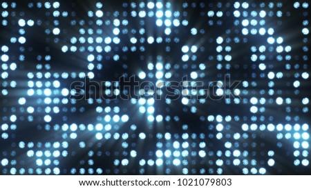 Lights flashing spotlight wall stage led blinking chromlech club concert dance disco dj matrix beam dmx fashion floodlight halogen headlamp jarag lamp night club party 3d illustration
