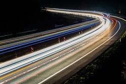 lights of cars at night