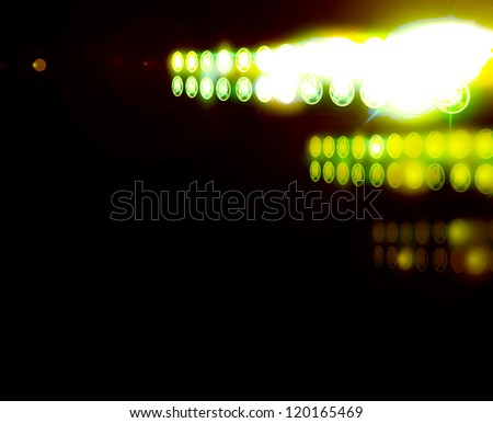 lights on a sports field