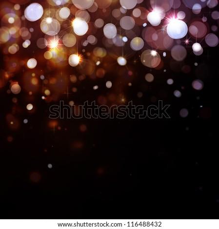Lights On Black Background