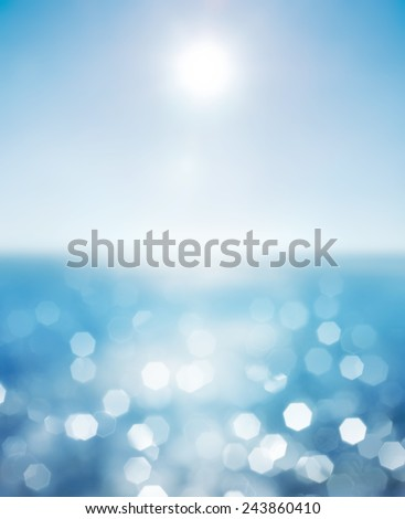 Lights on sea background.Waves. #243860410