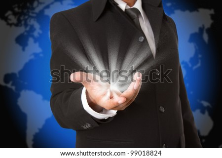 Lights on the business hand