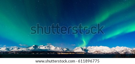 Lights over Mountains #611896775