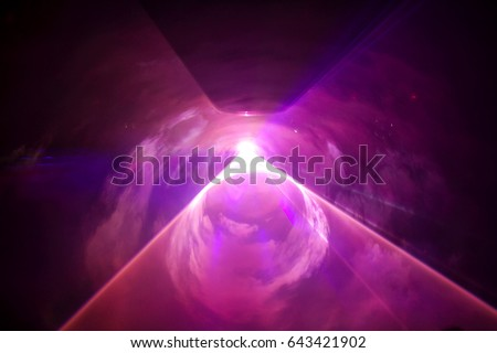 Lights show. Lazer show. Night club dj party people enjoy of music dancing sound with colorful light. club night light dj party club. With Smoke Machine and lights.  #643421902