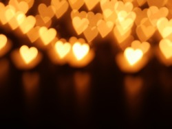 lights with candle and hearts