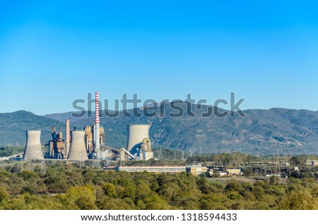 Lignite power plant in Megalopoli Greece #1318594433
