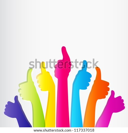 Like and Thumbs Up symbol. Abstract background.