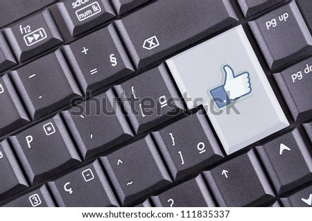 like button on computer keyboard