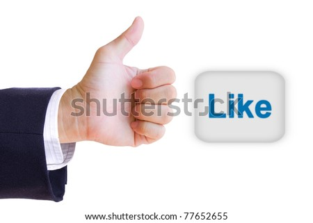 like hand and like button