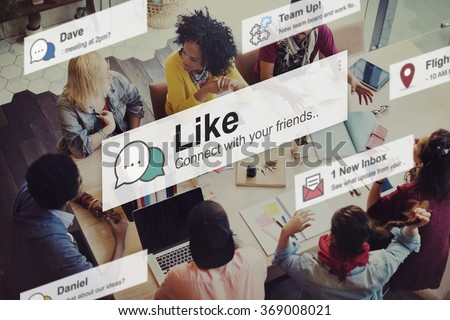 Like Share Social Media News Feed Concept #369008021
