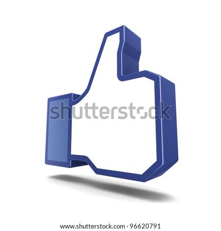 Like symbol isolated on white background