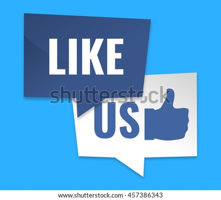 like us symbol icons small shadow design3D render