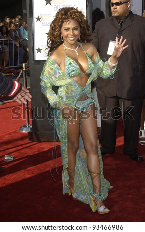 LIL KIM at the 3rd Annual BET (Black Entertainment TV) Awards at the Kodak Theatre, Hollywood. June 24, 2003  Paul Smith / Featureflash