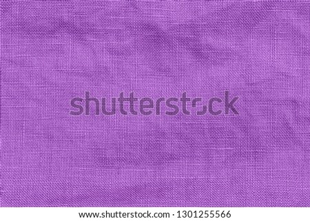 Lila pure linen texture. Wrinkled linen fabric background. Natural linen texture Foto stock ©