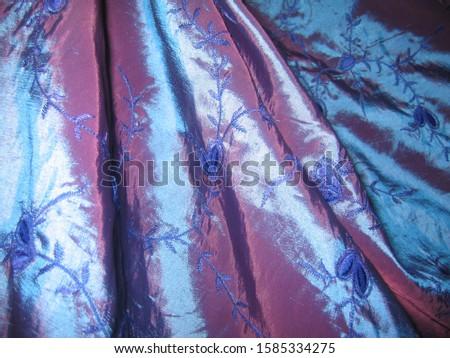 lilac luxury luxuriant silk, creases, chameleon, macro photography