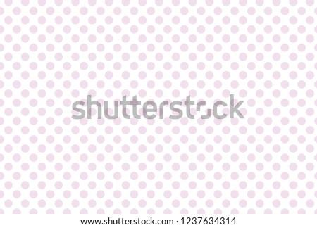 Lilac polka dot on white background. Pink polka dot pattern.  Polka dot pattern.  #1237634314