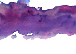lilac-violet watercolor stain
