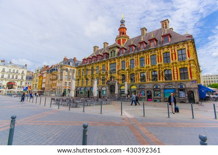 royalty free stock photos and images lille france june 3 2015 beautiful place grande with. Black Bedroom Furniture Sets. Home Design Ideas