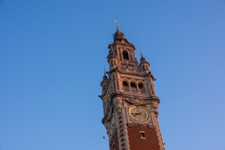 Lille, the belfry of chamber of commerce, French Flanders