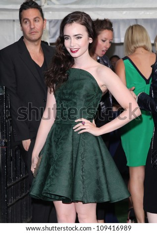 Lily Collins arriving for the Glamour Women Of The Year Awards 2012, at Berkeley Square, London. 29/05/2012 Picture by: Alexandra Glen / Featureflash