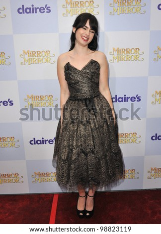 """Lily Collins at the world premiere of her new movie """"Mirror Mirror"""" at Grauman's Chinese Theatre, Hollywood. March 17, 2012  Los Angeles, CA Picture: Paul Smith / Featureflash"""