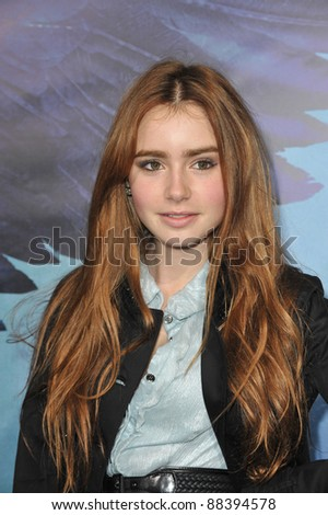 "Lily Collins - daughter of Phil Collins - at the world premiere of ""Legion"" at the Cinerama Dome, Hollywood. January 21, 2010  Los Angeles, CA Picture: Paul Smith / Featureflash"
