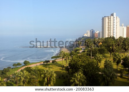 Lima, Peru and the Pacific Ocean