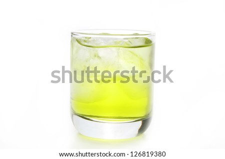lime alcohole - stock photo