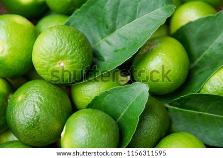 Lime Citrus Fruits background. Fresh juicy limes. Healthy food #1156311595