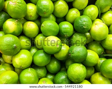 Lime Citrus Fruits In Fruit Market #544921180