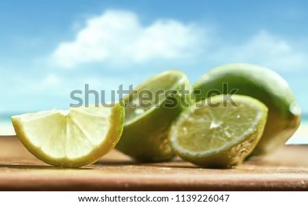 Lime fruit. Vitamin C #1139226047