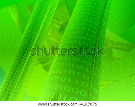 lime green binary abstract background