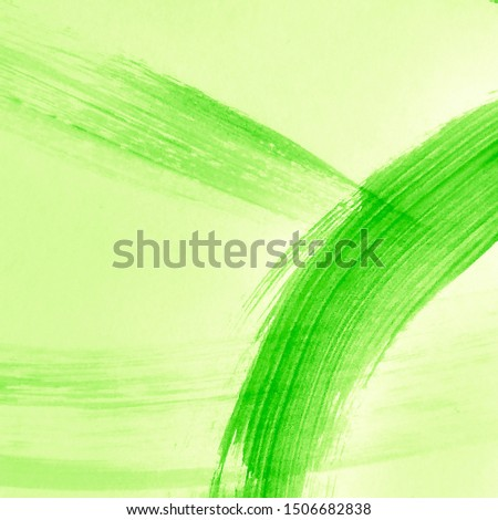 Lime Green Ink Chinese Art. Spring Poster Idea. Fresh Green Watercolor Brush Stroke. Nature Friendly Life. Organic Color Natural Dirty Art Painting. Spring Poster Idea.