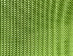 Lime green plastic fabric. Green plastic woven fabric close up, can be used as background, backdrop, or material texture. Fresh green textile close up.