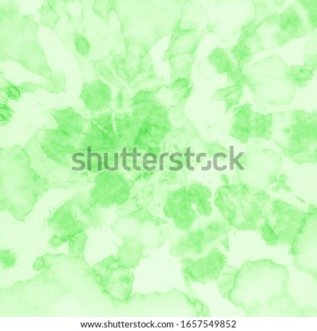 Lime Green Tie Dye Art Pattern Template. Geometric Art Background. Tie Dye Graphic Paper Decoration. Rough Acrylic Painting Art. Craft Messy Blur Background.