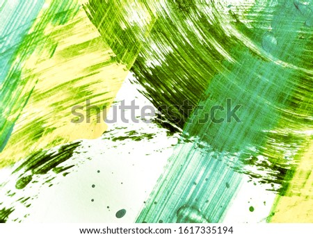 Lime Green Yellow Dirty Art Painting. Natural Green Summer Oil Brush Stroke. Spring Green Sunny Eco-Friendly Living. Leafy Color Mustard Acrylic Graffiti. Organic Color Mustard Acrylic Artwork.