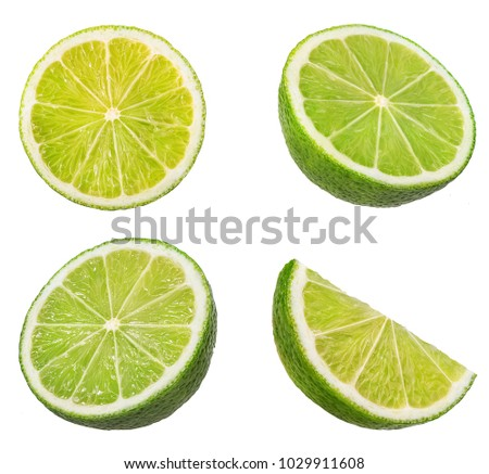 lime isolated on white background #1029911608