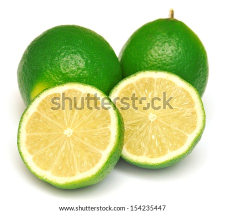 Lime isolated on white background #154235447