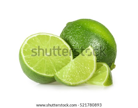 Lime isolated on white background - Shutterstock ID 521780893